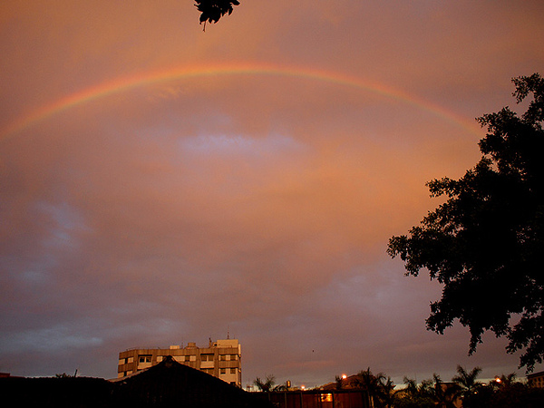 跟老公一起看到的彩虹