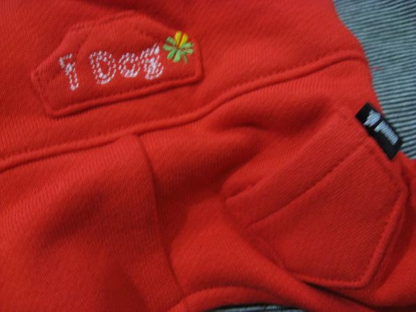 全新IDOG紅色連身吊帶褲XS