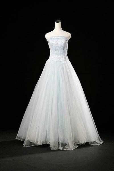 外景-水藍禮服
