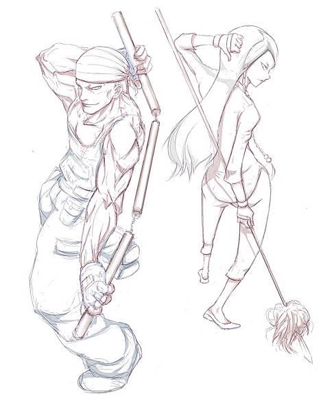 3-紫苑:矛&棍-影