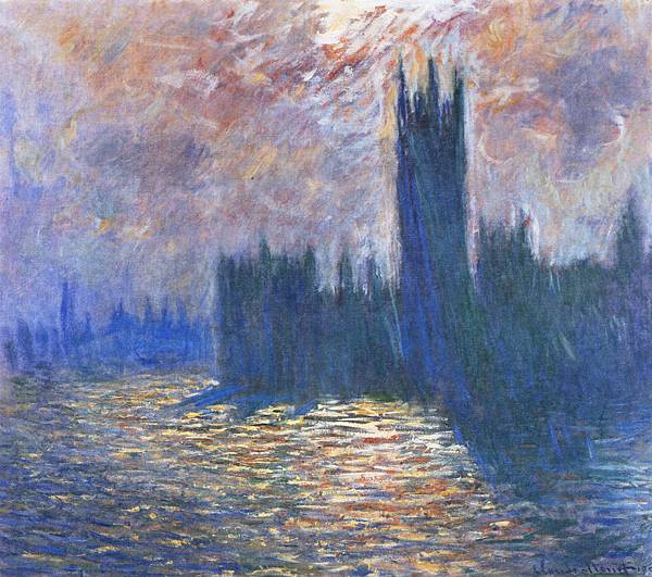 parliament-reflections-on-the-thames-1905
