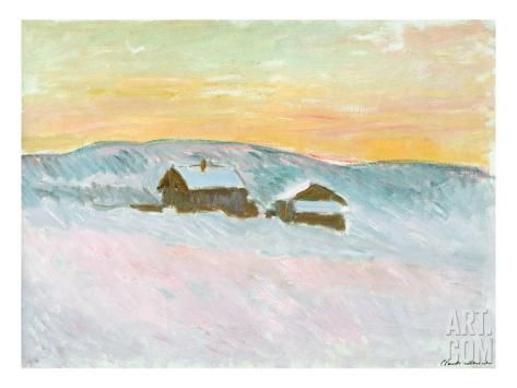 claude-monet-norwegian-landscape-blue-houses-1895
