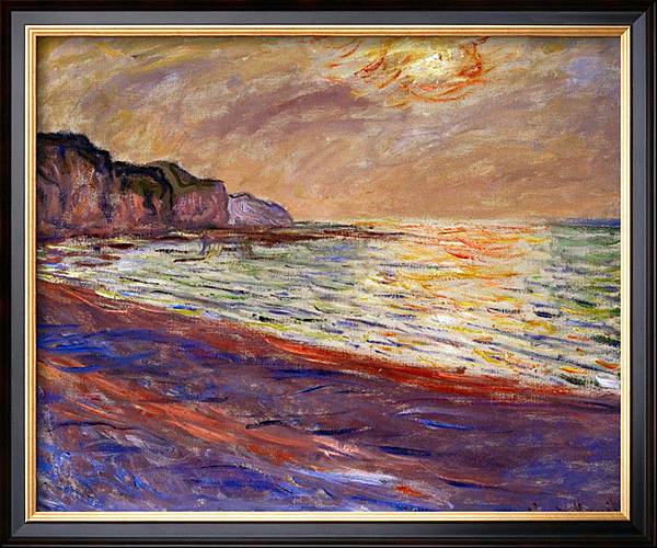 BEACH AT POURVILLE, SUNSET, 1882-1