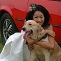 美女隋棠與我們家黃金獵犬Mac