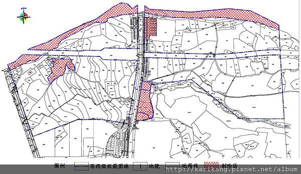 機場捷運A10站區段徵收開發案地籍套範圍示意圖