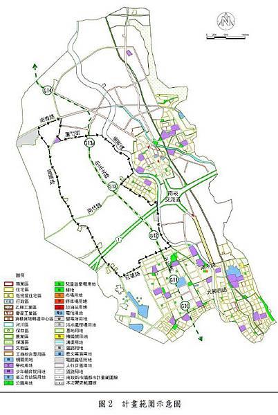 桃園都會區航空捷運線(綠線)G12G13G14都市計畫變更案位置示意圖
