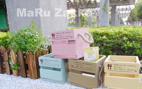 鄉村風麻繩天然木盒/99