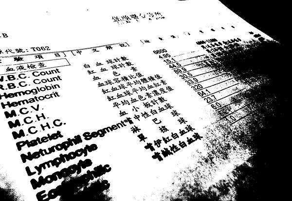 070303 驗血報告