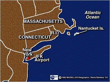 南塔基島的位置(紐約東北方,維基上的名字是南塔克特