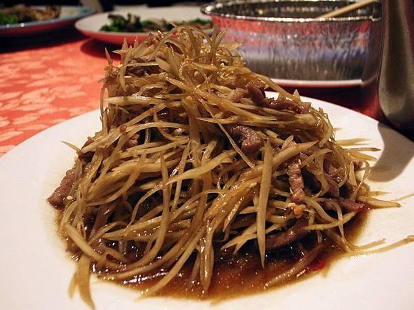 牛蒡絲炒肉
