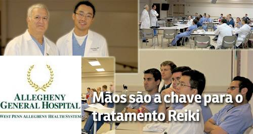 葡萄牙阿勒格尼醫院,為醫護人員開辦靈氣課程。
