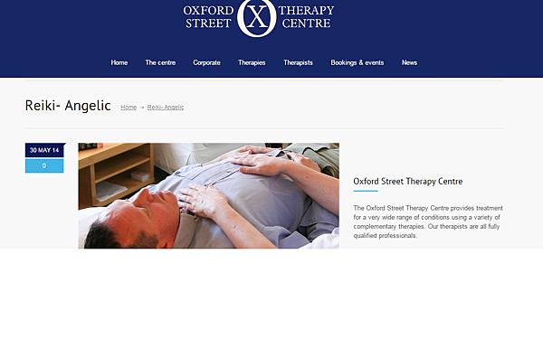 英國牛津街醫療中心所提供的靈氣服務