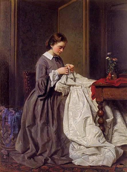 The Seamstress ~1858 Charles Baugniet #Belgian, 1814~1886.jpg