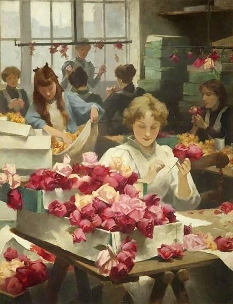 Flower Makers - 1896  Samuel Melton Fisher #UnitedKingdom, 1859-1939.jpg