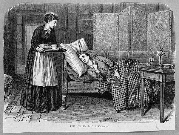 十九世紀婦女休息喝牛奶.png