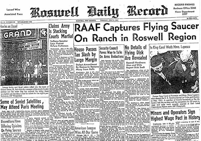RoswellDailyRecordJuly8,1947