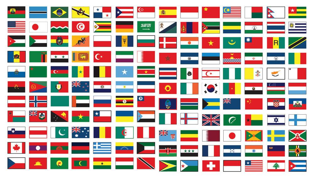 世界不同國家的國旗