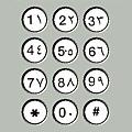 Egypt phone Keypad