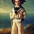 皇太子艾德華穿水手服的肖像