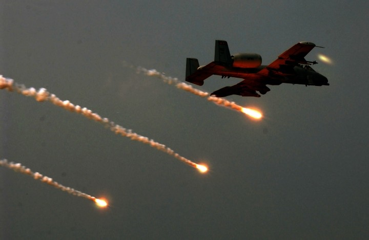 A-10 Flare Dropping Flares