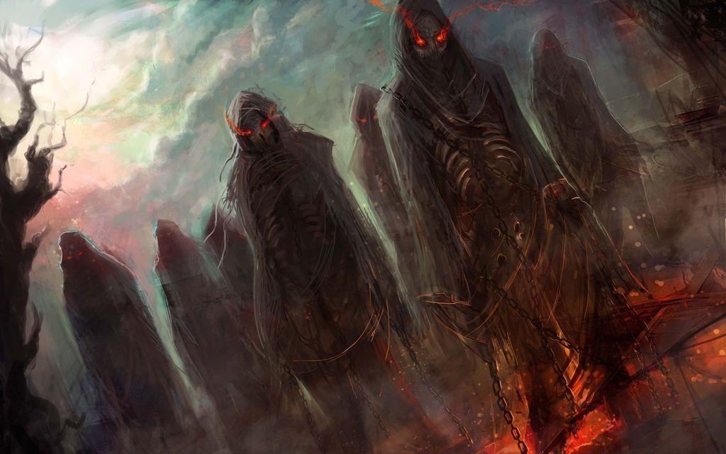 Dark horror evil