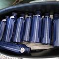 先來 8瓶 Shell 機油當第一層