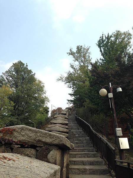 北岳山。首爾城廓探訪