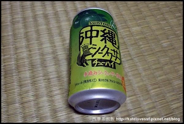 看到沖繩二字,馬上買回來嚐嚐。橘子口味的氣泡酒,澀味超重