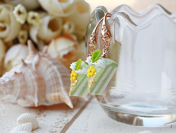 PINKOI-抹綠櫻花耳環2