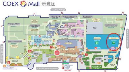 COEX Mall map