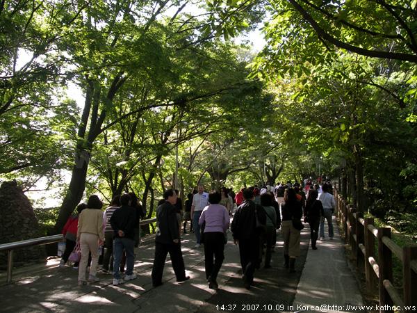 步行坡道前往N首爾塔