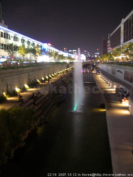 清溪川 - 五彩燈光噴水秀