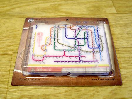 一到五名可選獎品:首爾地鐵圖案的名片夾
