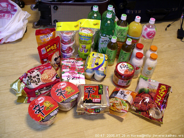 Lotte Mart採購的食物