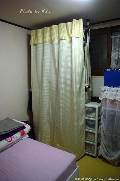 韓國租屋常見的衣櫥