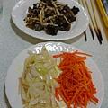 炒熟的雜菜用料