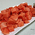 另外還招待飯後水果-西瓜