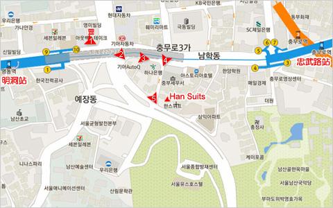 Han Suites map(加註路線標示)