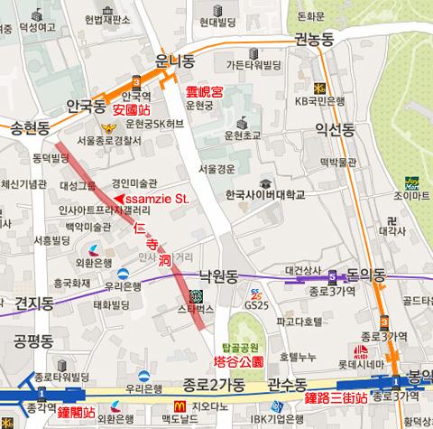 仁寺洞 map