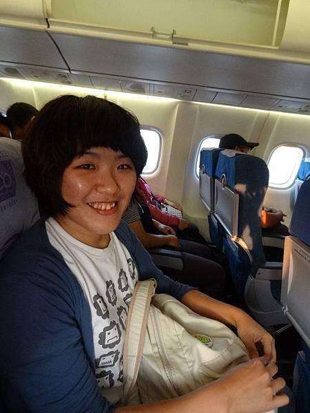 在飛機上啦