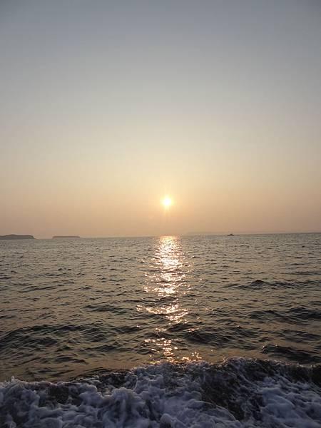 夕陽很美吼!!