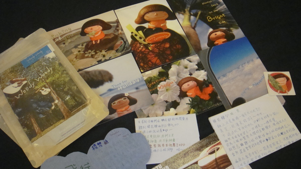 謝謝一比雅雅送的明信片和小咩和小林的卡片