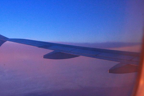 飛機上拍的