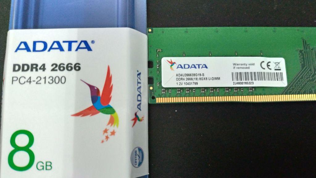 ADATA 8G DDR4 2666 20200103