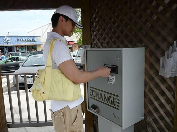 換零錢,作為停車費.JPG