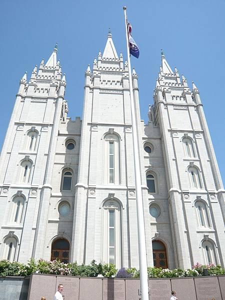 到鹽湖城參觀摩門教的聖地.JPG