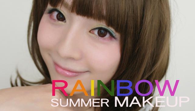 (YOUTUBE) RAINBOW MAKEUP♥繽紛糖果妝容