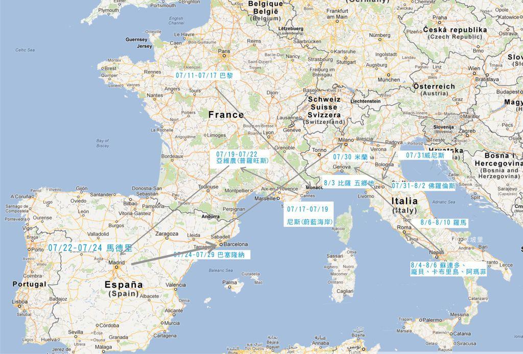 歐洲行圖解