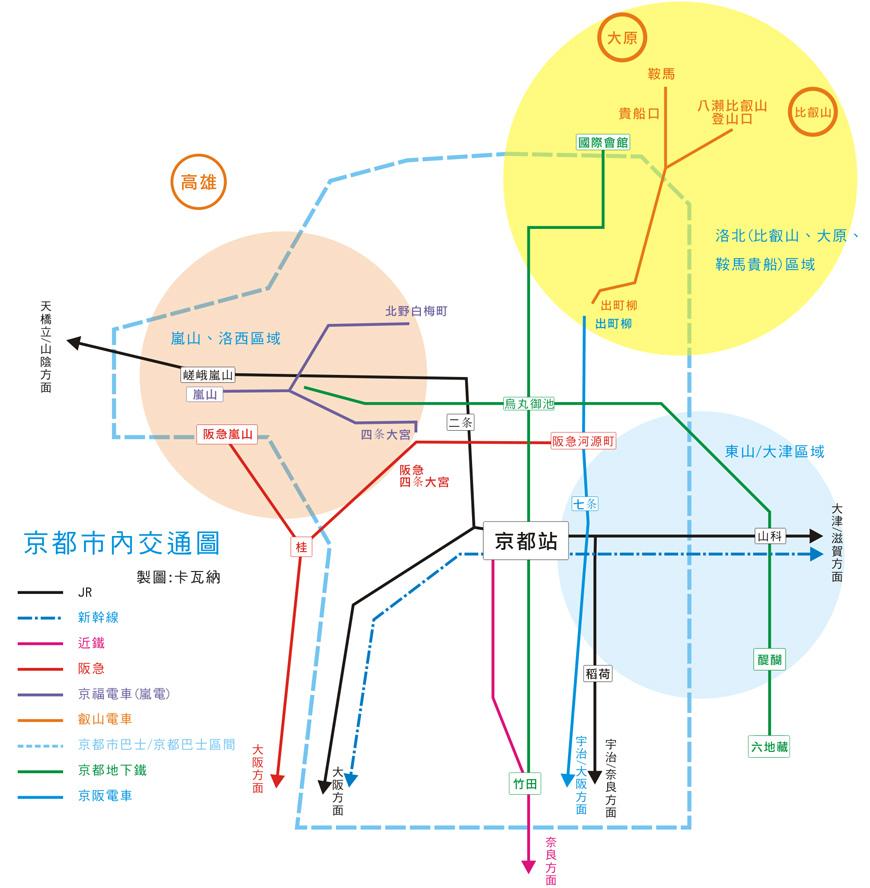 京都交通略圖