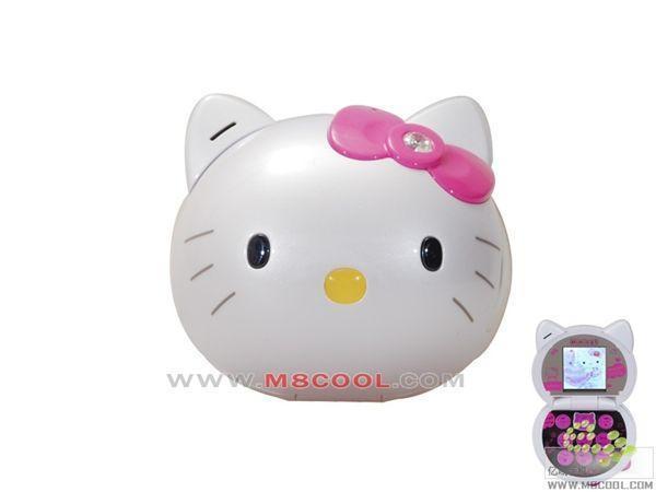 MISSY031最具人气的卡通手机 hello kitty QQ 蓝牙 1G内存 儿童节的礼物 白色RM410.bmp